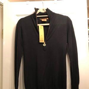 Tory Burch half zip black sweater